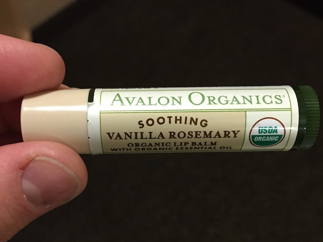 vanilla rosemary lip balm